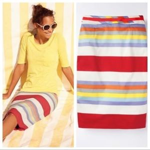NWOT Boden Multi-Color Modern Striped Pencil Skirt